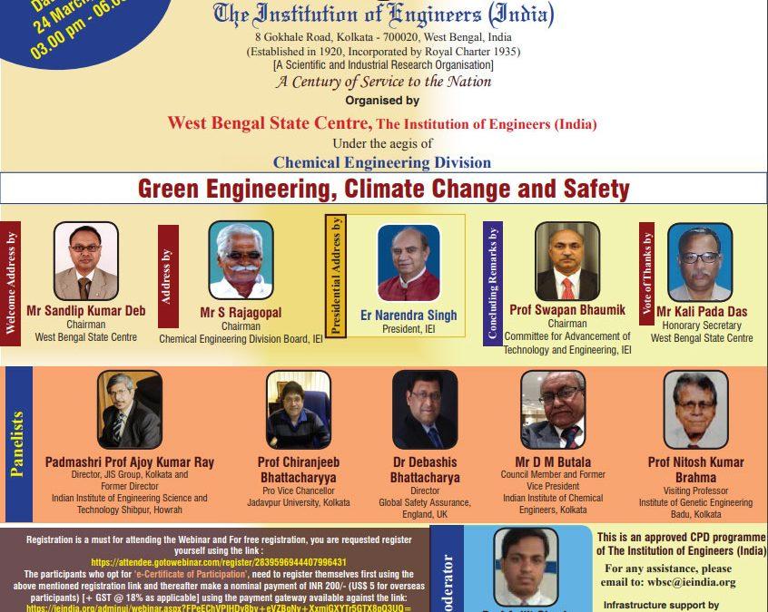 Webinar on Oceans as Green Energy Source 27-03-2021